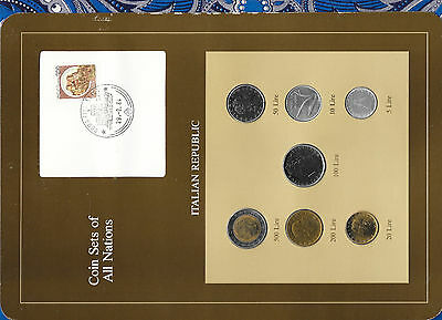 Coin Sets of All Nations Italy 1979 - 1985 UNC 100 Lire 1981 20,50,500 Lire 1985