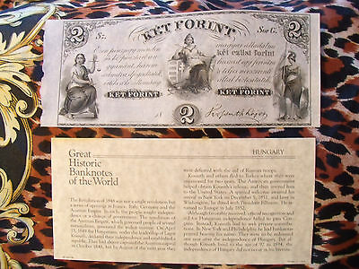 Great Historic Banknotes Hungary 2 Forint 1800's P. S142r Serie G Unifaced UNC