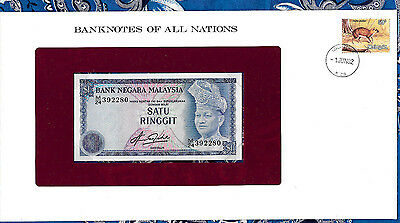 Banknotes of All Nations Malaysia 1981 1 Ringgit P13b UNC Prefix M/24