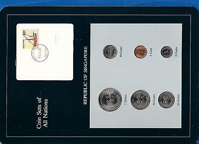 Coin Sets of All Nations Singapore UNC All 1981 but 10, 20 cents 1982