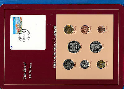 Coin sets of all nations Germany 1986 - 1988 UNC  5 Mark 1988 1 Mark 1986
