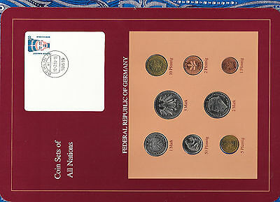 Coin sets of all nations Germany 1990-1992 UNC 1,2,5 Marks 1990 50 Pfennig 1992