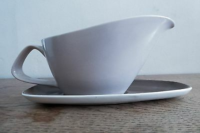 Vintage Poole Pottery Gravy/Sauce boat and saucer