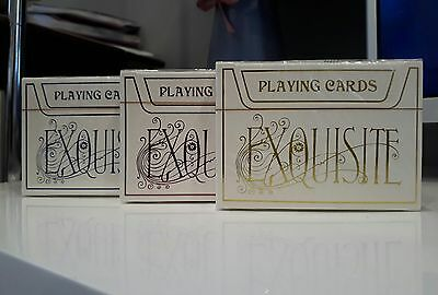 Exquisite Bold Blue Red Playing Cards Rare 3 Deck Collection New