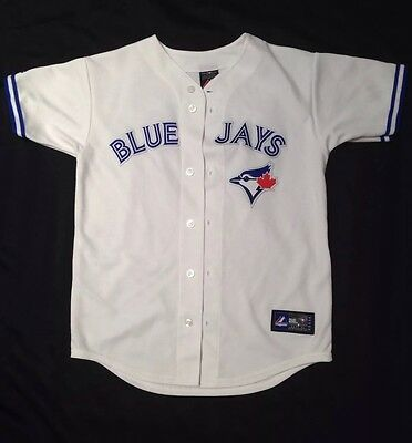Authentic Majestic Toronto Blue Jays Kid's Jersey #19 BAUTISTA Size L