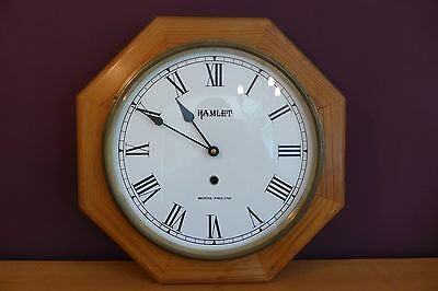 Pine Wall Clock by Hamlet of Bristol (Not Working)