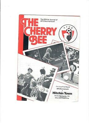 Bournemouth v Hitchin Town (FA Cup Round 1) - 25/11/1978