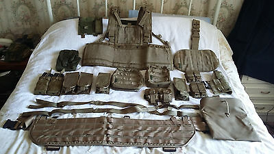 Warrior Assault Systems Loadout With Vanguard Molle Battle Belt, Coyote Tan New.