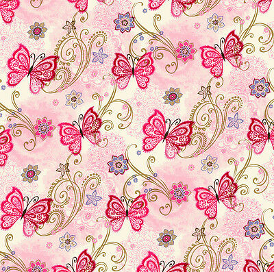 3 sheets of Dolls House Wallpaper 1/12th scale Butterflies Quality Paper #336