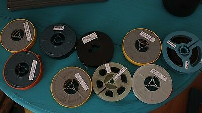 Lot of 9 8mm Privat Amateur Movies and others