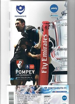 Portsmouth v Bournemouth (FA Cup Round 4) - 30/01/2016