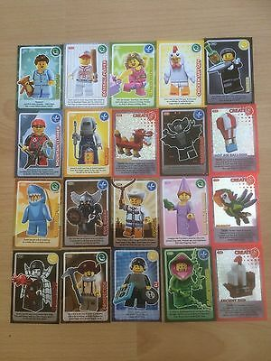 Lego Cards Create The World Sainsbury's Trading Cards Bundle x 20 VGC FREE P&P