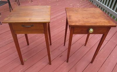 Antique Side Table Stands Circa 1790. One Cherry Dovetail Drawers