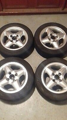 4 x 14 inch alloy wheels and tyres from fiesta mk4. 4 stud