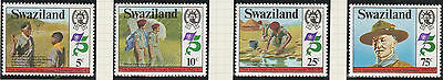 Swaziland Stamps 1982 75th Anniv. of Scout Movement SG 416-419 (MNH)