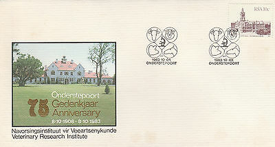 South Africa Stamps 1983 Cover. Onderstepoort Research Institute