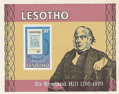 Lesotho stamps 1979 Cent of Death of Sir Rowland Hill SG MS378 MH