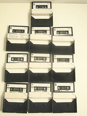 10 TDK SA-C90 Cassette Tapes Type II High Bias Chrome Position Audio Tape