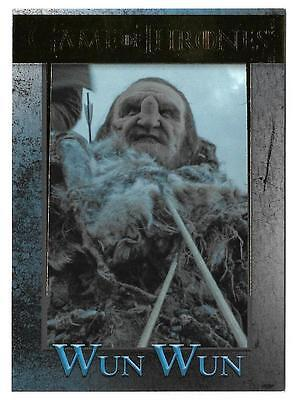 2017 Game Of Thrones Season 6 Gold Foil #92 Serial #138/150 Wun Wun