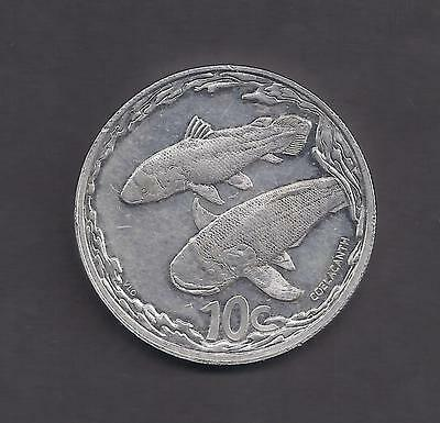 "South Africa 10 Cent ""Coelacanth"" Silver Coin 2013 - Scarce"