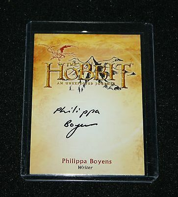 "The Hobbit - CA-2 ULTRA RARE Philippa Boyens ""Writer"" Auto /Autograph Card"