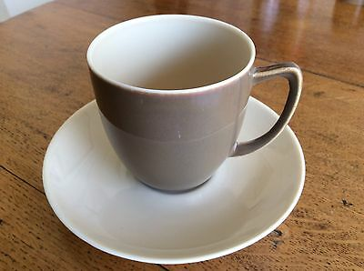 Branksome China Vintage Cup And Saucer, Twintone Cream And Coffee