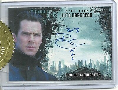 BENEDICT CUMBERBATCH 2014 Star Trek Movies AUTOGRAPH 9 Cs Incentive SP Variation