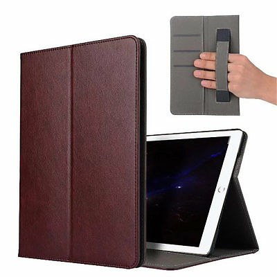 For Apple iPad Pro 10.5 2017 Vogue Handle Smart Leather Case Cover Wine Red+Film