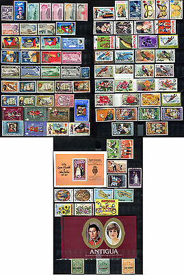 Antigua 1965 - 1981 ***** 97 Stamps ***** 84 Mint / Mnh