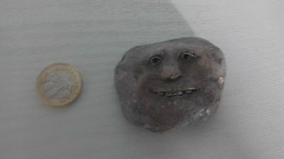 Clarecraft stone/rock man with face collectable figure. 20+ years old. Rare.