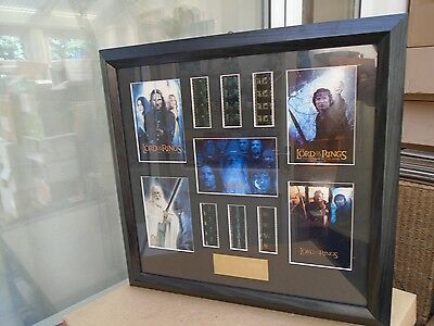 fantastic large limited edition lord of the rings film cell montage  WOW LOOK