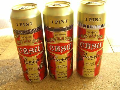 Empty Latvia beer cans set 568ml 1 pint, Limited edition, bottoms opened