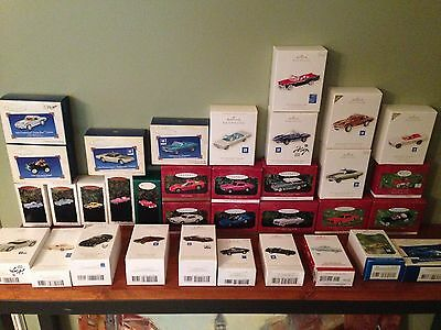 1995-2013 HUGH 34 ornament LOT Hallmark Cars Series LImited Repaint