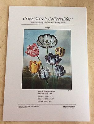 X Stitch Collectibles - TULIPS Cross Stitch (Chart Only)