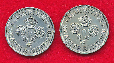 Mauritius 1952 10 CENTS (3 Coins)  Copper-Nickel