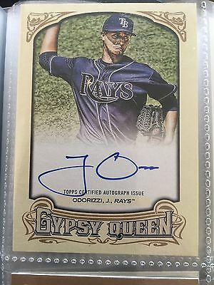 2014 Topps Gypsy Queen Autographs #GQA-JO Jake Odorizzi Tampa Bay Rays Baseball