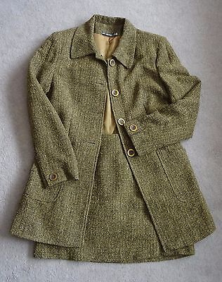 Vintage Two Piece Tweed Skirt Suit Size 12