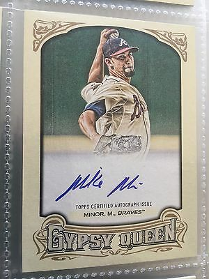 2014 Topps Gypsy Queen Autograph #GQA-MMI Mike Minor Atlanta Braves