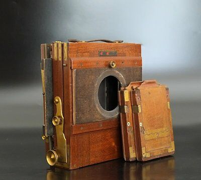 Antique Wooden Camera 'Eugen Klein Berlin' 5x7 4x5 wet plate Holzkamera