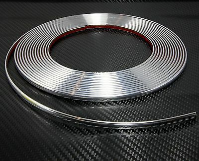 6mm (0.6 cm) x 2m CHROME CAR STYLING MOULDING STRIP For Audi A6 C4 C5 C6 C7