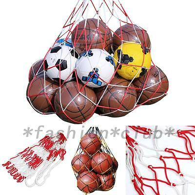 Sports Balls Football Basketball Storage Bag Draw Cord Closure Mesh Carry Net FC