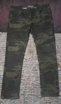 Carbon Men's Camoflouge 36X32 Straight Leg Army Green Jeans