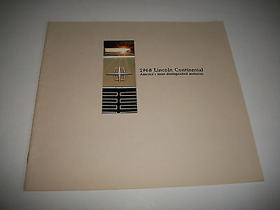 1968 Lincoln Continental Sales Brochure Catalog Sedan & Coupe Clean