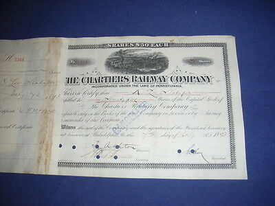 Chartiers Railway Co. 1893, 75 shares