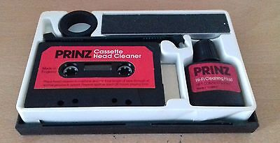 Prinz Tape Care Pack - Caseete Head Cleaner, Cleaning Fluid, Splicing Block