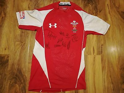 Wales Sevens Signed Match Worn Rugby Shirt /jersey/maillot - Rare-Look!!
