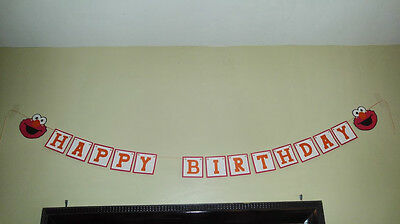 "handmade ""Happy Birthday"" sign Elmo"