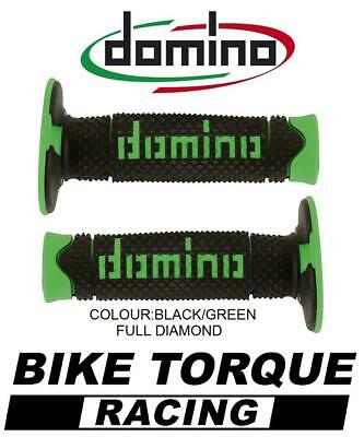 Suzuki RM250  Domino Full Diamond Grips Black / Green