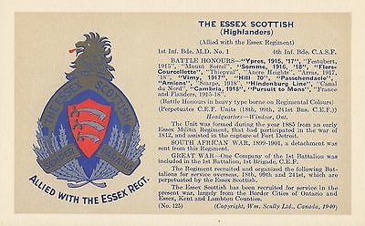 Essex Scottish Highlanders Badge Canadian Army Infantry Regiment © 1940 Scully