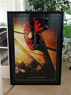 Rare Authentic Collectors Spider-Man Twin Towers Recalled Movie Poster - Framed